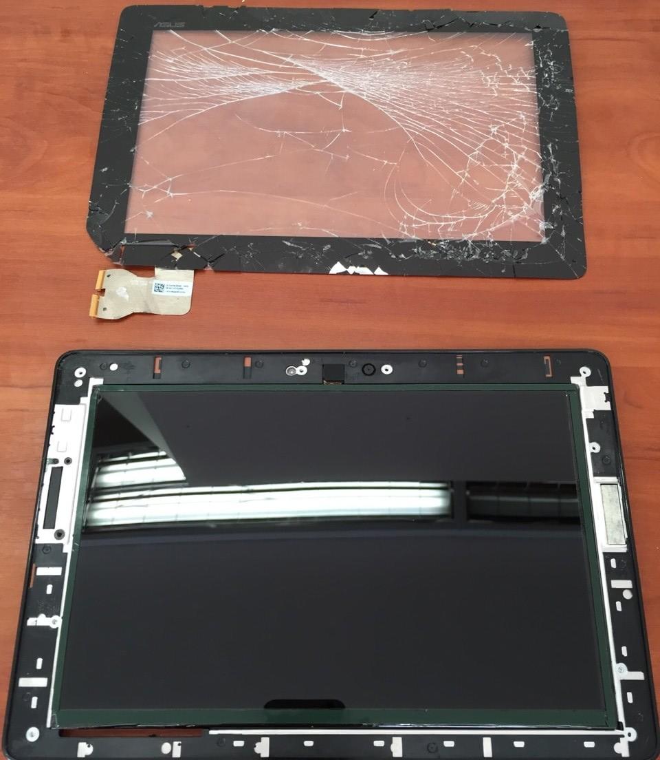 разбитый тачскрин Asus MeMO Pad FHD 10 ME302K
