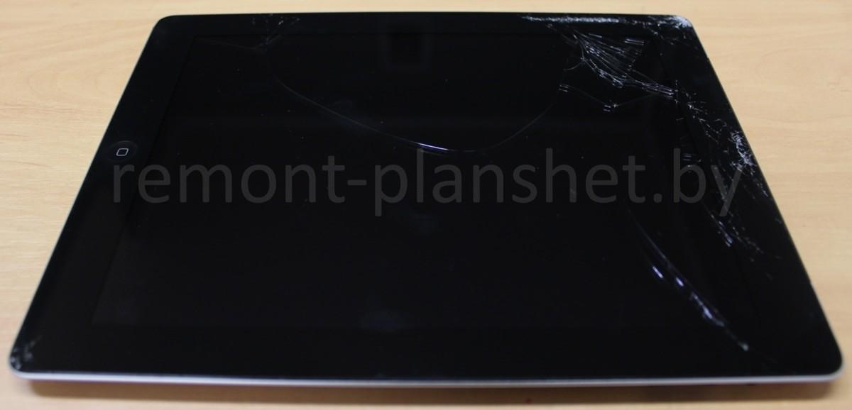 разбитое стекло iPad 3