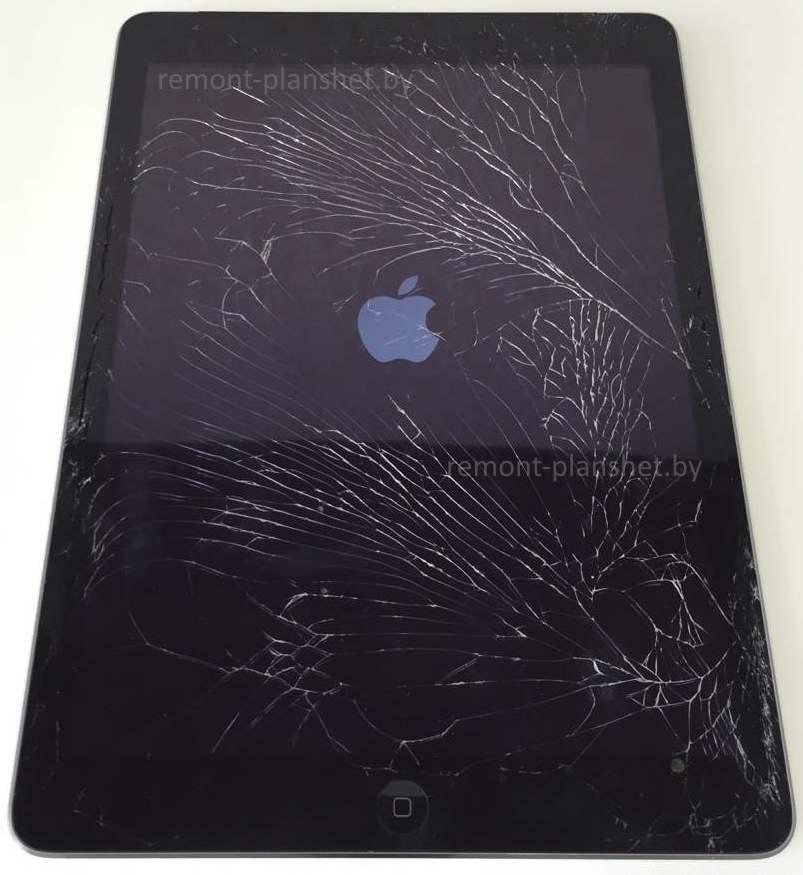 разбитое стекло iPad Air