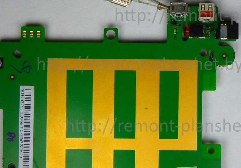 ремонт разъема планшета Huawei